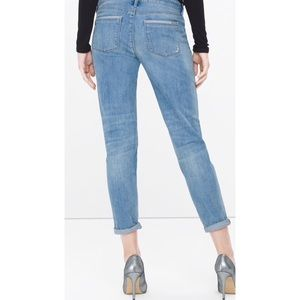White House Black Market Jeans - WHBM THE GIRLFRIEND chain distressed jeans 8
